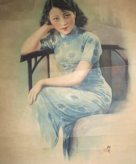 西洋古典美女手绘图片